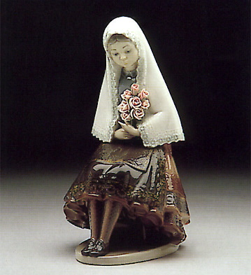 Girl Holding Roses Lladro Figurine