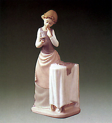 Girl Ironing Lladro Figurine
