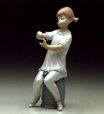 Girl Manicuring Lladro Figurine