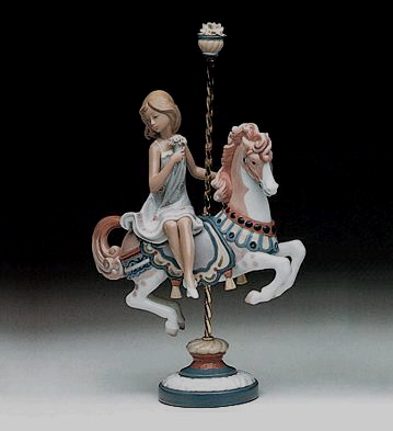 Girl On Carrousel Horse Lladro Figurine