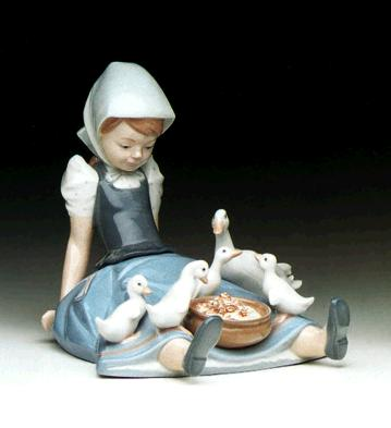 Girl, Saucepan And Duck Lladro Figurine
