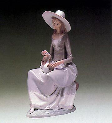 Girl W/ Dog Lladro Figurine