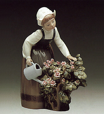 Girl Watering Lladro Figurine