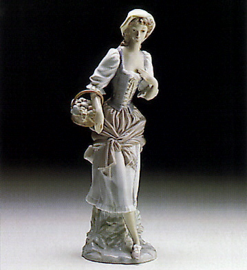 Girl With Basket Lladro Figurine