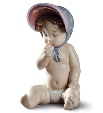 Girl With Bonnet Lladro Figurine