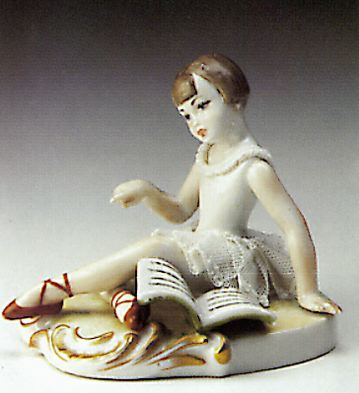 Girl With Book Open Lladro Figurine