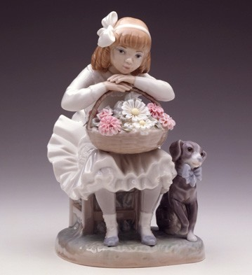 Girl With Flowers Lladro Figurine