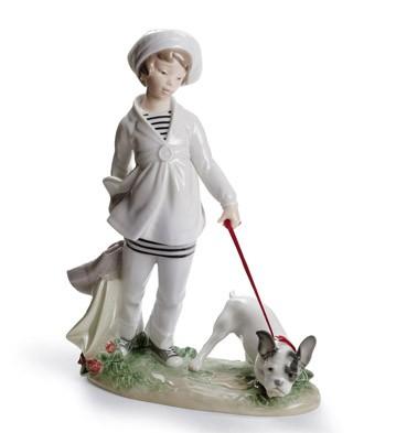 Girl With French Bulldog Lladro Figurine