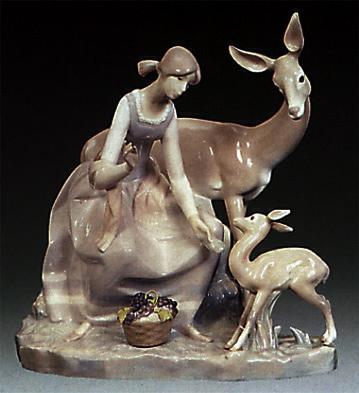 Girl With Gazelle Lladro Figurine