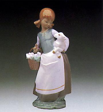 Girl With Lamb Lladro Figurine