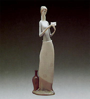 Girl With Letter Lladro Figurine
