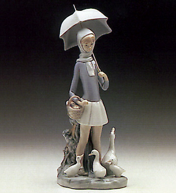 Girl With Umbrella Lladro Figurine