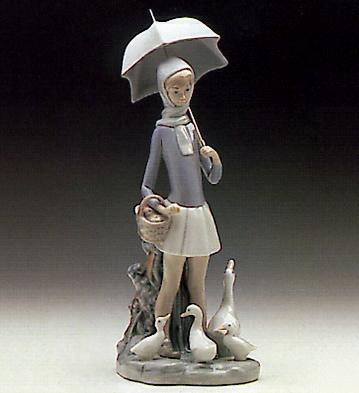 Girl With Umbrella Lladro Figurine