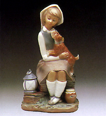 Girl W/lantern Lladro Figurine