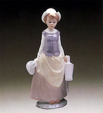 Girl W/milk Jars Lladro Figurine
