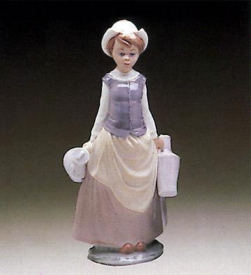 Girl W/milk Jars Lladro Figurine