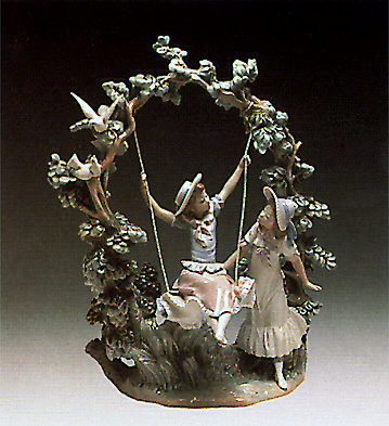 Girls In The Swing Lladro Figurine