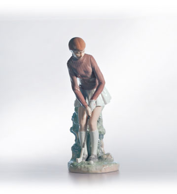 Golf Player (woman) Lladro Figurine