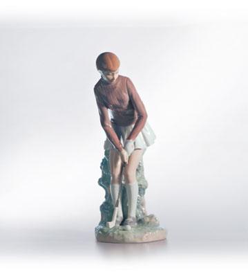 Golf Player (woman) Lladro Figurine