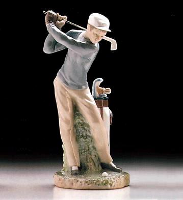 Golfer Lladro Figurine