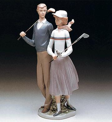 Golfing Couple Lladro Figurine