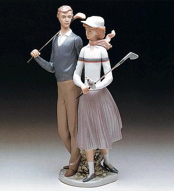 Golfing Couple Lladro Figurine
