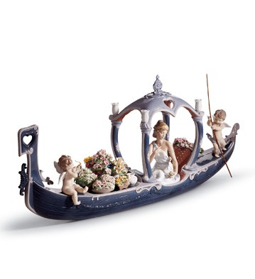 Gondola Of Love Lladro Figurine