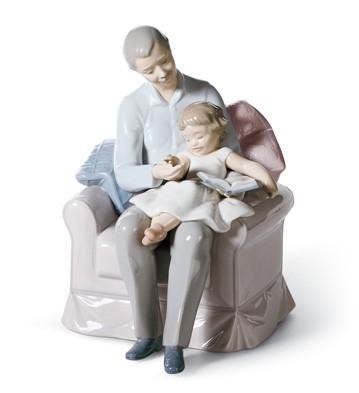 Grandfather's Stories Lladro Figurine