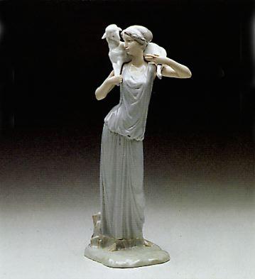 Greek Shepherdess Lladro Figurine
