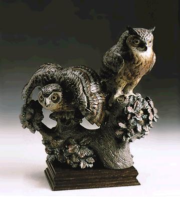 Group Of Eagle-owl (l.e.) Lladro Figurine