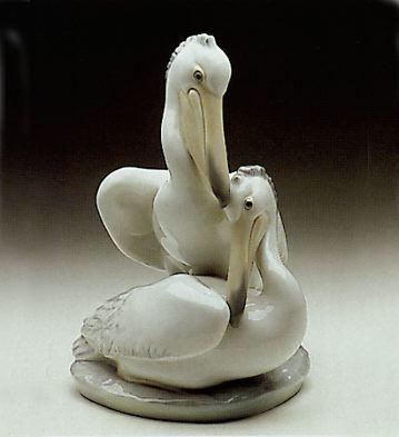 Group Of Pelicans Lladro Figurine