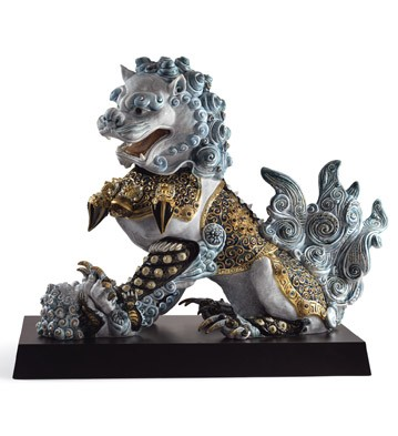 Guardian Lioness (blue) Lladro Figurine