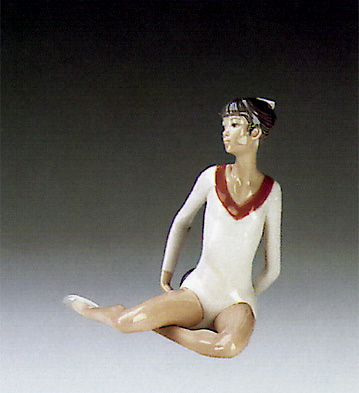 Gymnast Exercising W/ball Lladro Figurine