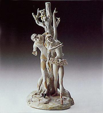 Harlequin & Ballerina Lam Lladro Figurine