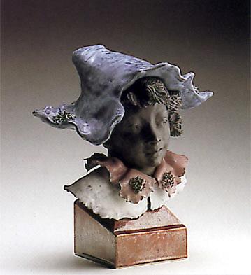 Harlequin Bust With Genie Lladro Figurine