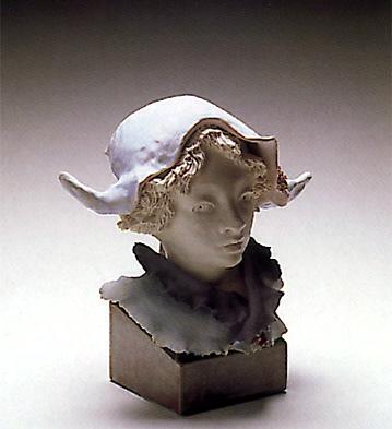 Harlequin Bust W/two Corn Lladro Figurine