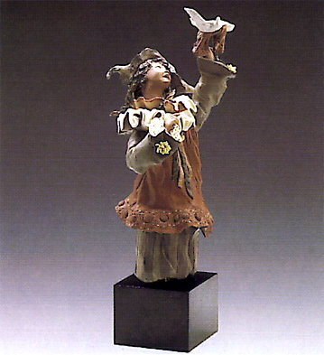 Harlequin With Dove(b) Lladro Figurine