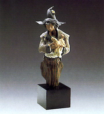 Harlequin With Puppy(b) Lladro Figurine