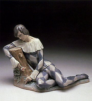 Harlequin With Rose Lladro Figurine