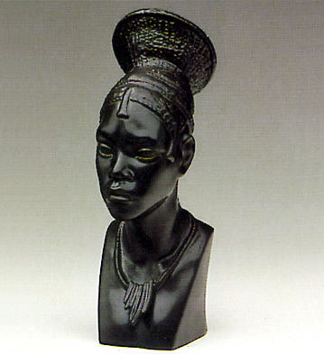Head Of Congolese Woman Lladro Figurine