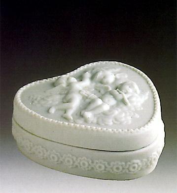 Heart Box-decorated Lladro Figurine