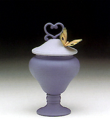 Heart Sweet Box, Blue Lladro Figurine