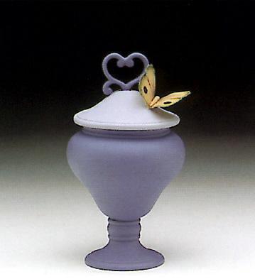 Heart Sweet Box, Blue Lladro Figurine