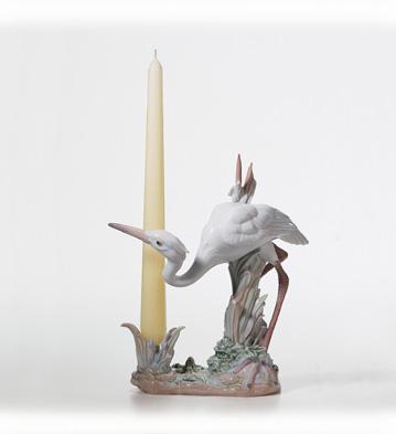 Herons'realm Candleholder (crouching) Lladro Figurine