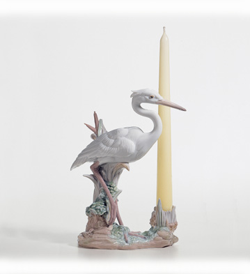 Herons'realm Candleholder (standing) Lladro Figurine