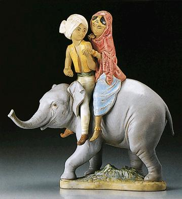 Hindu Children Lladro Figurine