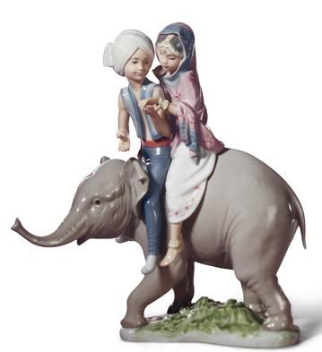 Hindu Children Lladro Figurine