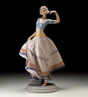 Hindu Dancer Lladro Figurine