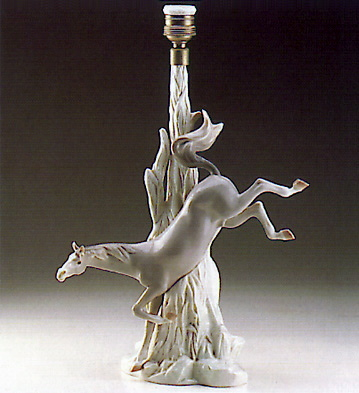 Horse Bucking (lamp) Lladro Figurine