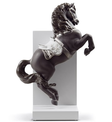 Horse On Courbette (re-deco) Lladro Figurine